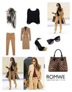 """romwe"" by azra-azra ❤ liked on Polyvore featuring moda, Victoria Beckham, Alice + Olivia, MANGO, rag & bone, Diane Von Furstenberg, Balmain e romwe"