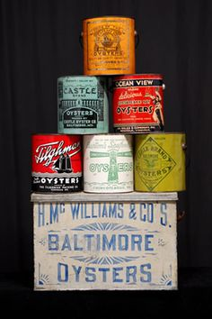 Antique signs and vintage tins are very popular items !