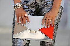 #Celine diamond clutch