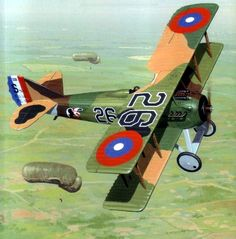 SPAD XIII flown by LT. Frank Luke of the 27th Aero Squadron 1918