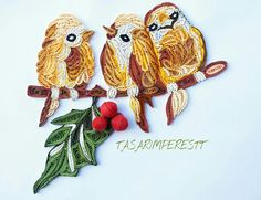 Quilling birds By meliha                                                                                                                                                     More