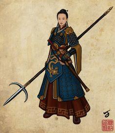 Chinese inspiration.. hombreras con animal guía y print tipo armadura