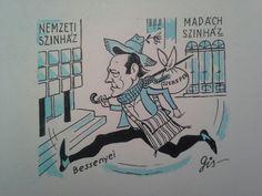 Szegő Gizi /gis/ (1902 - 1985) Karikatúra. Mihály Gyűjtemény