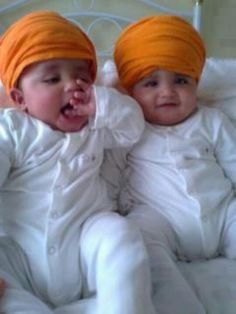 Two Sikh kids Adorable and soo cute