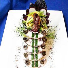Staircase of octopus galantine  #octopus#seafood#seafoodlover#feedfeed#tastefullyartistic#gastroart#gastronomy#thefeedfeed#cheflife#chefstalk#chefsroll#theartofplating#chefsofinstagram#foodpics#instafood by chef_antonio_mancini