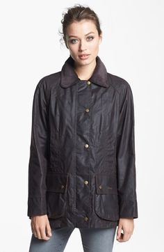 Barbour 'Beadnell' Waxed Cotton Jacket available at #Nordstrom