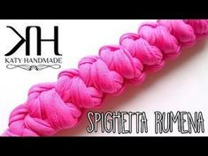 TUTORIAL SPIGHETTA RUMENA - ROMANIAN BRAID || uncinetto/crochet ⚫ Katy Handmade - YouTube