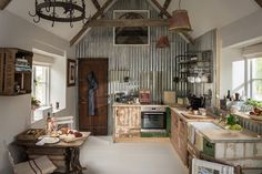 Upcycled Kitchen | Cottage in Cirencester | Unique Home Stays | Eco Chic Eclectic  Interior Design | #RusticKitchen | #UpcycledKitchen