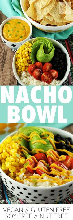 easy vegan nacho bow