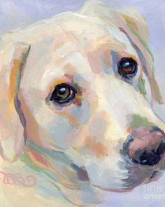 Yellow Lab Art Print featuring the painting Young Man by Kimberly Santini Dog Drawing Tutorial, Guache, Dog Paintings, Dog Portraits, Dog Art, Animal Drawings, Canvas Art, Dog Canvas Painting, Illustrations