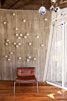 bocci product wall mounted in conjunction with ceiling lights