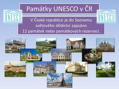 Památky UNESCO v ČR V České republice je do Seznamu> Old Maps, European Countries, Czech Republic, Geography, Homeschool, Science, Teaching, Minecraft, History