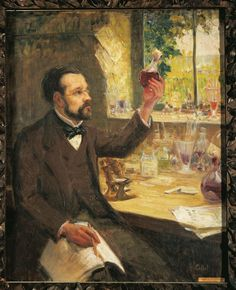 French chemist and microbiologist #LouisPasteur died on the 28 September 1895. In this portrait, Pasteur can be seen studying the fermentation of grape juice.   Image: ©De Agostini/The British Library Board