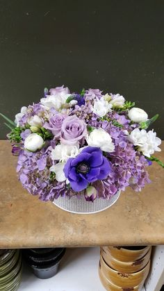 Purple flower arrangements for wedding and events