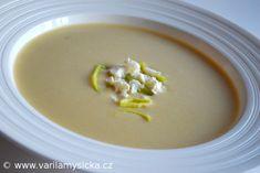 Krémová pórková polévka s balkánským sýrem