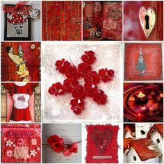 Red and white ,  All images are from my Flickr friends by Catharinas-Love, via Flickr