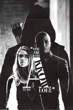 """You are not alone."" #TeamArrow #Arrow #Olicity"