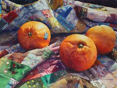 Chris Krupinski: Oranges on a Quilt
