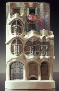 Timothy Richards plaster architectural model of Casa Batllo (by Antonio Gaudi) - Barcelona LIMITED EDITION.