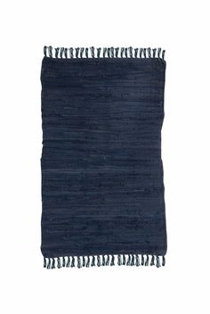 Navy Plain Rag Rug