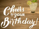 Yes! The lime in your drink does count as a serving of fruit! Cheers to Your Birthday!
