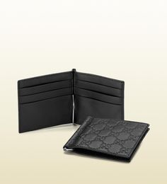 guccissima leather money clip wallet