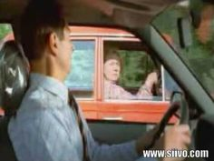 Funny Driving Video of Lady Faking a Turn into a Passing Car - YouTube