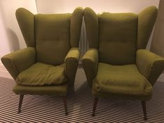 Vintage Retro Matching Pair OF Wingback Armchairs Wingback Armchair, Armchairs, Retro Vintage, Accent Chairs, Pairs, Furniture, Ebay, Home Decor, Homemade Home Decor