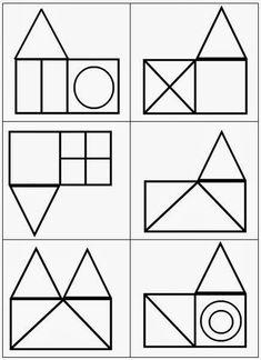 Cube Pattern, Pattern Blocks, Geometry Pattern, Foundation Paper Piecing, Preschool Kindergarten, Preschool Activities, Kids Playing, Montessori, Shapes