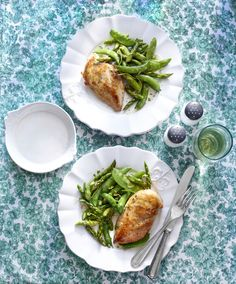 Fresh spring vegetables are an easy (and healthy!) way to upgrade the classic chicken dinner. Recipe: Skillet Chicken and Spring Vegetables    - CountryLiving.com