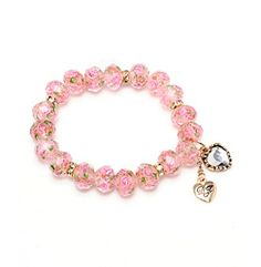 Product: Betsey Johnson® Pink Crystal Flower Bead Stretch Bracelet