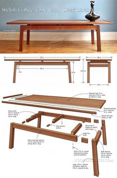 Coffee Table Plans - Furniture Plans and Projects - Woodwork, Woodworking, Woodworking Plans, Woodworking Projects Trendy Furniture, Furniture Projects, Furniture Plans, Furniture Making, Wood Furniture, Furniture Design, Coffee Table Plans, Diy Coffee Table, Woodworking Furniture