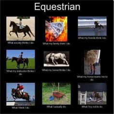 Being an #equestrian