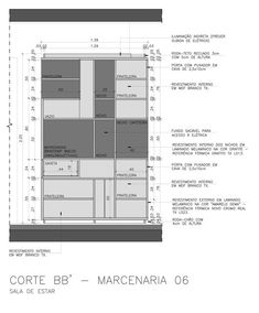 Galeria de Reforma do apartamento Reserva Saúde / Stuchi & Leite Projetos - 12 Interior Design Boards, Interior Sketch, Interior Design Living Room, Architecture Details, Interior Architecture, Kitchen Layout, Kitchen Design, Furniture Plans, Furniture Design