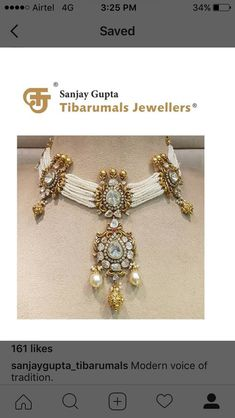Fulfill a Wedding Tradition with Estate Bridal Jewelry Gold Jewellery Design, Bead Jewellery, Gold Jewelry, Beaded Jewelry, Indian Wedding Jewelry, Bridal Jewelry, Indian Bridal, Stylish Jewelry, Fashion Jewelry