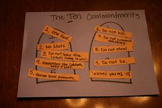More T activities - Ten commandments, turtles, triangles, telling time