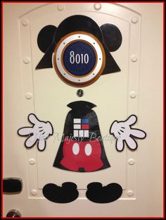 Mickey Mouse As Darth Vader Body Part Magnet for Cruise Door