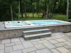 84 best swim spa install ideas images pool supplies bubble baths hot tubs. Black Bedroom Furniture Sets. Home Design Ideas