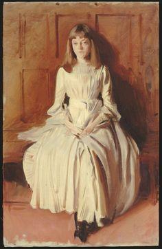 """John Singer Sargent / Study for """"Elsie Palmer"""" (1873-1955) / c. 1889-1890 / Oil on canvas"""