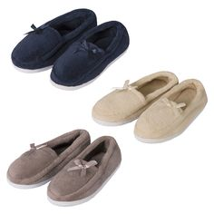 07eceaae912 Presenting Forever Dreaming Ladies moccasin slippers available in US sizes 5  up to These fur-lined slippers from the Forever Dreaming collection are ...