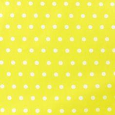 Tissu enduit coton petits pois blancs fond jaune x 10cm Yellow Background, Snap Peas, Cotton, White People, Fabrics, Cotton Textile