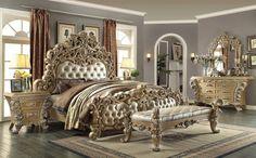 5 Piece Homey Design Royal Kingdom HD-7012 Bedroom Set
