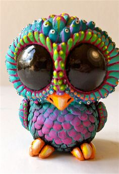 BABY OWL   Sculpture / Collectible Resin by Seriouslysillygirls, $116.00