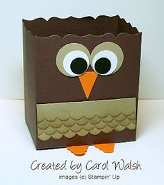 Julie's Stamping Spot -- Stampin' Up! Project Ideas Posted Daily: Fancy Favor Owl Box