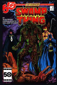 SWAMP THING 46 Alan Moore DC Comics Stephen Bissette John Totleben Batman Phantom Stranger Supernatural Magic Gothic Horror Anti-Super Hero