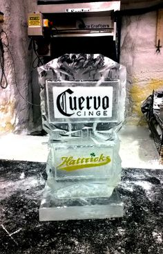 how to make an ice luge track