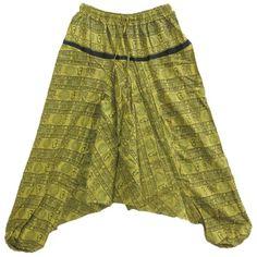 Designer Clothes, Shoes & Bags for Women Hippie Pants, Hippie Bohemian, Tie Dye Skirt, Harem Pants, Shoe Bag, Amazon, Yellow, Printed, Polyvore