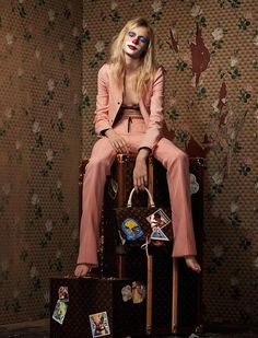 Louis Vuitton 160th Monogram Anniversary Fall 2014 by Johnny Dufort: Creative Story on Cindy Sherman