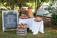 MAJOR soft spot for this wedding favor: homemade BBQ sauce! Wedding Vendors, Wedding Blog, Fall Wedding, Wedding Planner, Our Wedding, Destination Wedding, Jam Favors, Homemade Wedding Favors, Kansas City Wedding