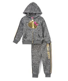 Keep your little Hello Kitty fan warm while at the playground or park with this cozy hoodie and matching pair of sweatpants featuring a marled design for athletic personality. Hello Kitty Clothes, Hello Kitty Shoes, Hello Kitty Bag, Hello Kitty Collection, Going Back To School, Hoodies, Sweatshirts, Canada Goose Jackets, Long Sleeve Shirts